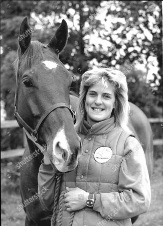 Hopeful Jockey Kristina Gifford- Daughter Of John Gifford- With Horse In 1989.