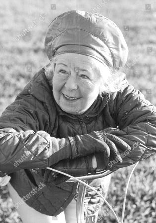 Eileen Asquith Joins The Badsworth Hunt In Yorkshire On Her Bicycle. Miss Asquith Is The Sister-in-law Of The Former Tory Chancellor Anthony Barber.