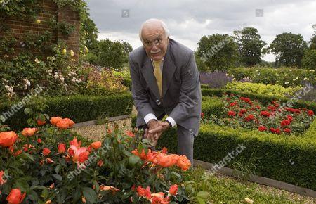 Robert Washington Shirley, 13th Earl Ferrers, in his garden