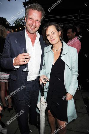 Hugo Burnand and his wife