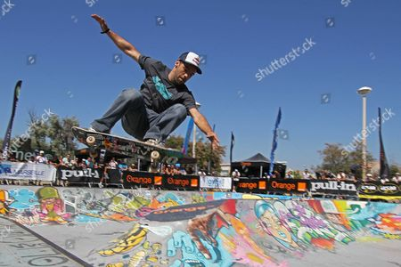 Editorial image of Skateboarding - Orange Freestyle Cup event in Marseille, France  - 25 Jun 2011