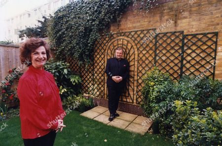 Author Sheridan Morley Who Died February 2007 Seen Here With His Fiancee Ruth Leon At Their Home