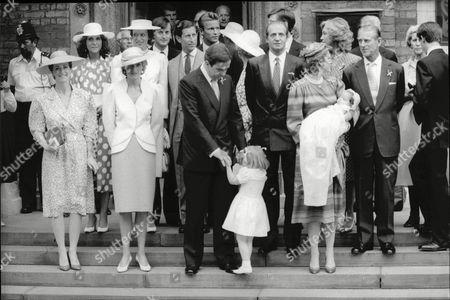 Lady Romsey Diana-princess Of Wales Princess Bendikte Of Denmark Lord Brabourne Charles- Prince Charles King Constantine King Juan Carlos Queen Anne- Marie Of Greece Sophia Of Spain Prince Philip Elana Of Spain And Prince Philippos Of Spain 1986.