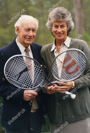 Dan Maskell Tennis Commentator With Virginia Wade