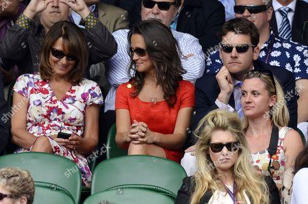 Carole Middleton, Pippa Middleton and Alex Louden
