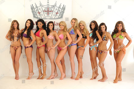 "Editorial image of Miss England contestants compete for the title of ""Best Beach Body"", London, Britain - 29 Jun 2011"
