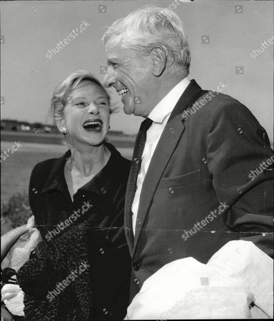 Actress Joan Greenwood With Husband Andre Morell At London Airport