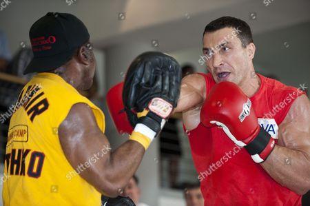 Stock Image of Manny Steward and Wladimir Klitschko