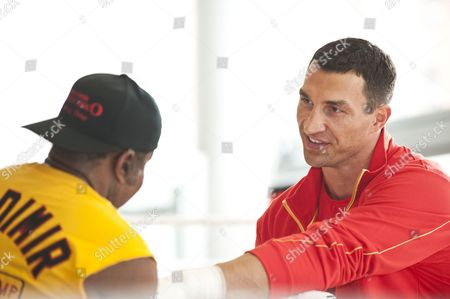 Stock Picture of Manny Steward and Wladimir Klitschko