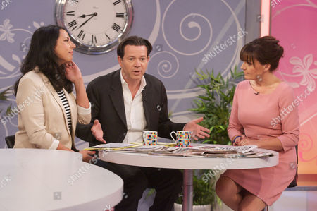 Stock Photo of Aasmar Mir and Kevin O'Sullivan with Lorraine Kelly.