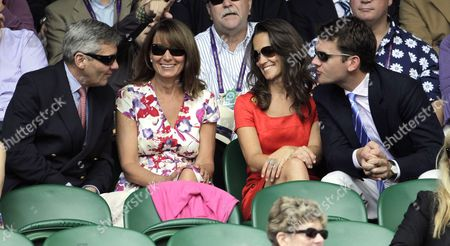 Pippa Middleton with family and boyfriend Alex Louden