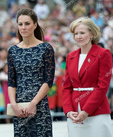 Catherine Duchess of Cambridge and Laureen Harper
