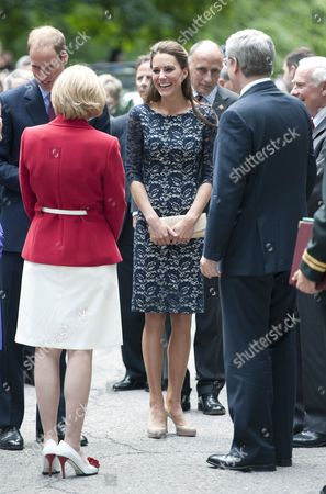 Prince William, Laureen Harper, Catherine Duchess of Cambridge and Prime Minister Stephen Harper