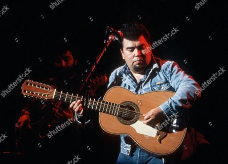 Los Lobos - Cesar Rosas in concert at the Deptford Albany, London, Britain.