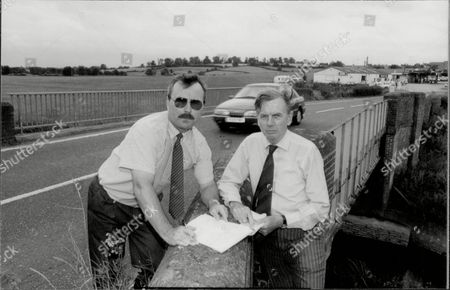 Graham Hawtree Of The Dorset Village Of East Stour (left) With Local M.p. Nicholas Baker. More Than 150 Local Residents Have Protested Against Plans By Dorset County Council To Shut The A30 For Two Months So That A Bridge Over The River Stour Can Be Strengthened.