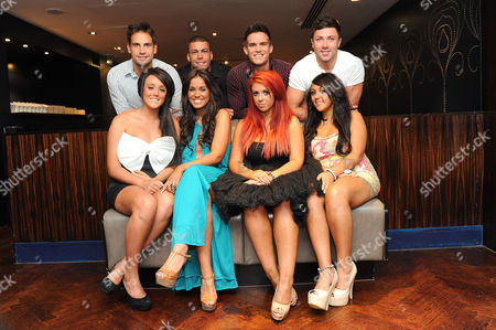 Stock Photo of Back Row: Gaz Beadle, Jay Gardner and James Tindle  Front Row: Charlotte Leticia Crosby, Vicky Pattison, Holly Hagan and Sophie Kaisae
