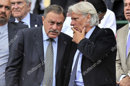 John Newcombe and Bjorn Borg