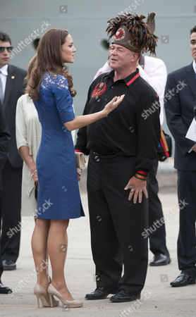 Stock Image of Catherine Duchess of Cambridge with Konrad Sioui