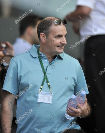 William Murray Father Of Andy Murray: Wimbledon: The Lawn Tennis Championships 2010. Sam Querrey V Andy Murray
