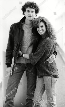 Actors Lance Guest And Catherine Mary Stewart Of Film 'the Last Strafighter' In London For Film's Premiere 1984.