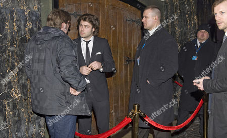 Archie Standing working on the door of the ultra trendy The Box Club ie vetting the crowd to ensure that the 'right' people obtained entry and the 'wrongs' were mainly discreetly turned away.