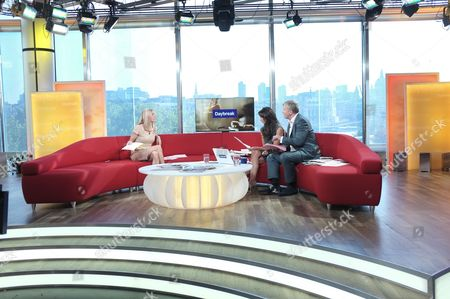 Cordelia Kretzschmar with Christine Bleakley and Adrian Chiles