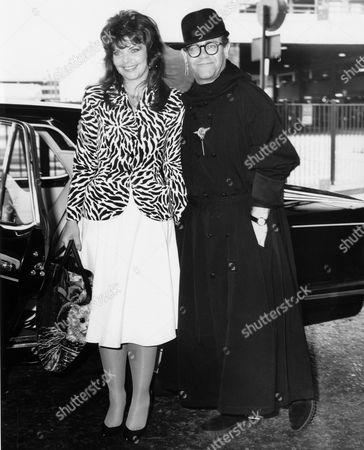 Stock Image of Renate Blauel and Elton John