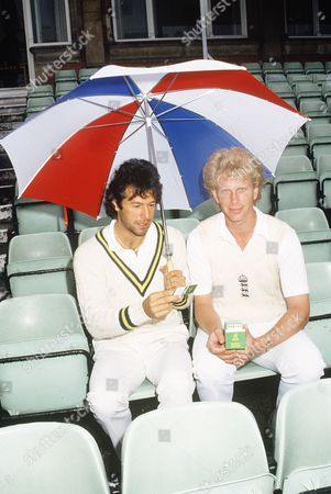 Stock Picture of Graham Dilley and Imran Khan