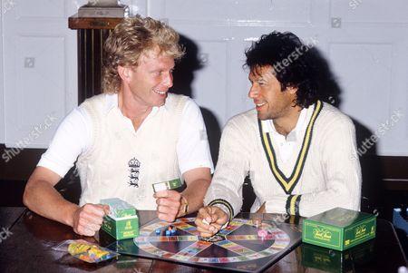 Graham Dilley and Imran Khan