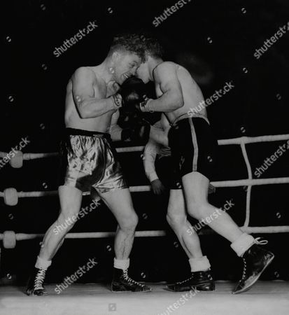 Editorial picture of Boxing: Ken Lawrence (right) V Denny Dawson At The Haringay Arena.