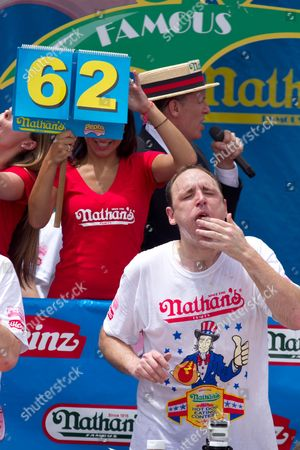 Editorial photo of Nathan's Fourth of July hot dog eating contest, New York, America - 04 Jul 2011