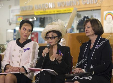 First Lady of Gabon, Sylvia Bongo Ondimba, Yoko Ono and Cherie Blair