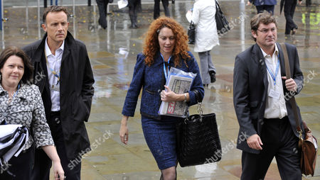 Frederic Michel with Rebekah Brooks, the chief executive of News International and former Sun editor with her Husband Charlie Brooks