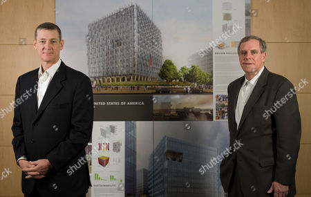 Editorial photo of Architects who have deigned the new US Embassy be built in Nine Elms, London, Britain - 19 May 2010