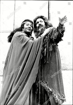 Opera Singers Grace Bumbry And Garbis Boyagnian In Production Of Aida 1988.
