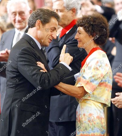 Nicolas Sarkozy and Jeannie Longo