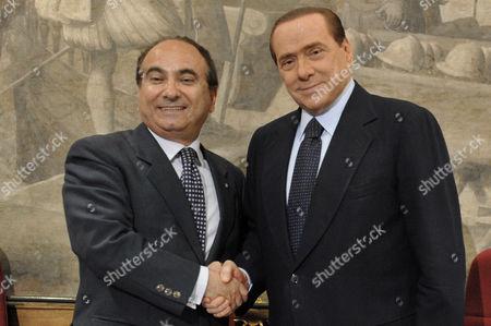 Domenico Scilipoti and Silvio Berlusconi