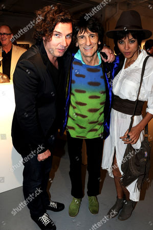 Antony Genn, Ronnie Wood and Ana Araujo