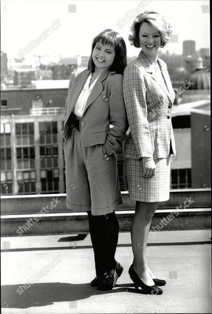 Charlotte Attenborough Sir Richard Attenborough Is Pictured At Thames Tv Hq With Susan Kyd (taller Of The Two)