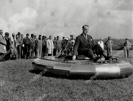 Rally For Home Built Hovercraft Donald Robertson In His Craft 1961.