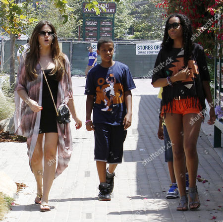 Khloe Kardashian with Destiny Odom and Lamar Odom Jr