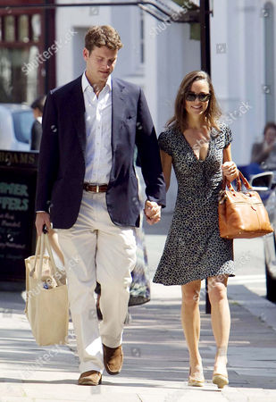 Editorial image of Pippa Middleton and Alex Loudon on their way to Lords Cricket ground, London, Britain - 03 Jul 2011