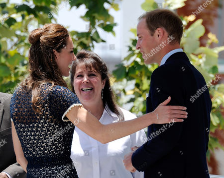 Catherine Duchess of Cambridge and Prince William say farewell to Danielle Alexandra, (C) Board of Trustees at Centrepoint