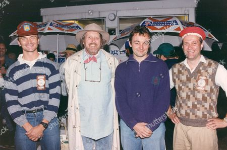 Evening Standard Boules Championship 1993. Willie Rushton The Humorist Is Pictured 2nd Left.