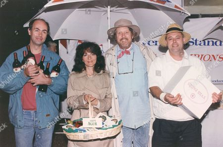 Evening Standard Boules Championship 1993. Willie Rushton The Humorist Is Pictured 3rd Left.
