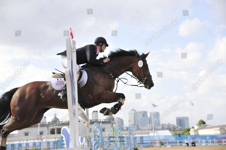Nicholas Woodbridge of Great Britain who was in 2nd place after the horse jumping event.