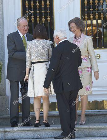 King Juan Carlos, Marta Linares, Ricardo Martinelli and Queen Sofia