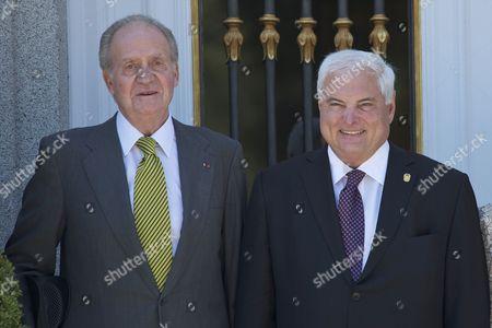 King Juan Carlos and Ricardo Martinelli, President of the Republic of Panama