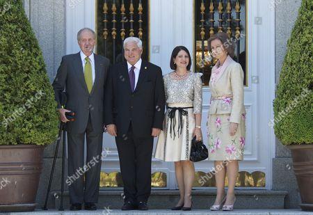 King Juan Carlos, Ricardo Martinelli, Marta Linares and Queen Sofia