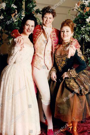 Opera 'cherubin' - 1994 - Royal Opera Shows' (l-r) Angela Gheorghiu Susan Graham And Maria Bayo.